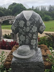 Hawaii 2016 (jericl cat) Tags: valleyofthetemples cemetery tiki gravemarker headstone hawaii 2016 northshore trip vacation