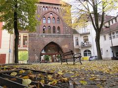 Park pov of new gate (navarrodave80) Tags: park leaves gothic newgate slupsk downtown poland autumn city canon davechmiel