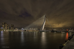 Rotterdam  de Erasmusbrug (wim.kanis) Tags: nederland netherlands wim kanis hdr blauw uur avondfotografie nachtfotografie lange sluitertijden long exposure nikon nacht night nightshots avondopname nachtopname d610 rotterdam erasmusbrug