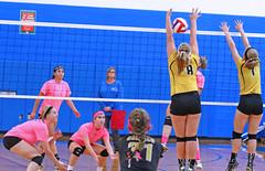 IMG_9945 (SJH Foto) Tags: girls volleyball high school lampeterstrasburg lampeter strasburg solanco team tween teen east teenager varsity net battle spike block action shot jump midair