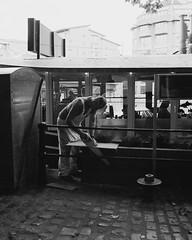 Saw (joshuacolephoto) Tags: street streetphotography streetwalk people contrast lines travel explore journey jcm joshuacole nikon f100 ilford xp2 400 135 35mm film bristol peopleofbristol bristolstreetphotography england uk bnw blackandwhite bw noir