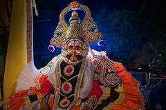 Therukoothu near Cheiyar (Akilan T) Tags: sigmaart sigma canon5dmk3 canon environmentalportrait portrait akilanphotography akilan makeup acting act costume flash backlighting cultural culture traditional folkart art india tamilnadu chennai cheiyar therukoothu
