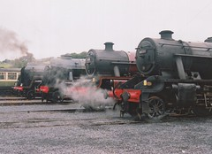 "Kettle's Boiling! (37190 ""Dalzell"") Tags: br britishrailways black green kettle lms londonmidlandscottishrailway maroon 5xp jubilee 48151 guageoguild 5690 leander 46115 scotsguardsman 70013 olivercromwell wcrc westcoastrailwaycompany openday steamtown carnforth"