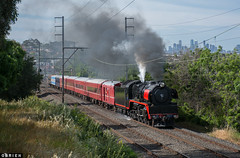 Pascoe Vale (Dobpics O'Brien) Tags: engine locomotive rail railway railways r707 pascoe victorian victoria vr vale steam special train seymour