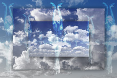 Air Ballet (jopperbok) Tags: jopperbok werehere wah hereios air sky clouds blue white grey ballet ballerina spitzen monochrome photoshop photomanipulation manipulation repetition