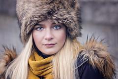 Blue eyes (Sigita JP) Tags: naturallightportrait model beauty blueeyes portrait winterqueen