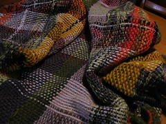 wool (mostly) throw, woven (sandySTC) Tags: ashfordrigidheddleloom wool weave weaving handwoven rigid heddle loom