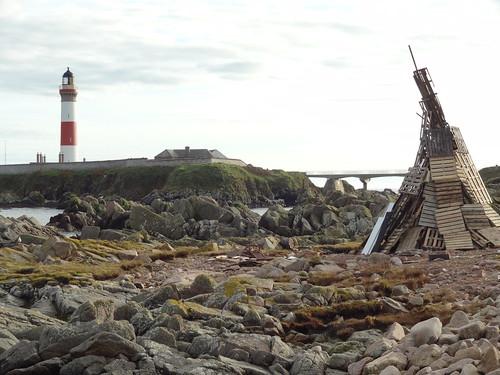Bonfire at Buchan Ness Lighthouse