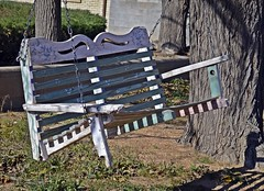 Old Bench Swing-HBM! (Packing...So Excited!!!) Tags: walk benchmonday bench swing old fallingapart