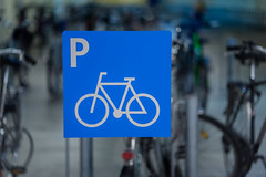 Bicycle Parking Deck (*Capture the Moment*) Tags: 2016 bicycle fahrzeugeverkehr fotowalk lampen lamps munich mnchen oez olympiaeinkaufszentrum olympiashoppingcenter parkdeck parkhaus parking platform sonya7ii subway ubahn zeissbatis1885