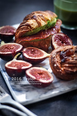 Homemade Croissant (TailorTang) Tags: croissant puffpastry breakfast homemade bread pastry stilllife food foodphotography 50mm 5014 matcha greentea fig avocado salami sandwich