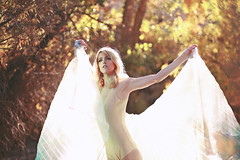 Lady Sun (Kelly McCarthy Photography) Tags: woman model beautiful beauty fairytale blonde fantasy outdoors autumn bokeh bokehwhores light fall naturallight dreamy makeup gold golden bodysuit trees forest woods
