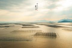 Xiapu () Tags: fujian xiapu mudflat coastline beaches river seaweed bamboo fishnets reflection beach sands nikon travel seascapes lake              sunset