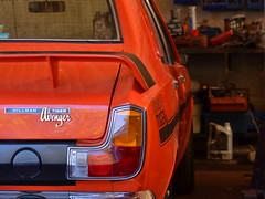 I'm a Tiger (mitchell_dawn) Tags: hillman avenger tiger classiccar orange garage workshop rootes chrysler seventies 1970s 1972 red
