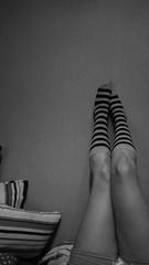 18/365 Gris (Flor Filippini) Tags: piernas legs rayado sonyalpha 365