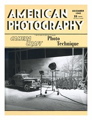 A Faux Vintage Photography Magazine Cover (Michael Paul Smith) Tags: faux magazine cover 1940s layout design 124th scale diorama 1942 chrysler woody wagon hand lettered masthead