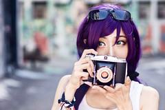 Toujou Nozomi (bdrc) Tags: asdgraphy toujou nozomi doujin version lovelive idol cosplay girl portrait outdoor street back alley shah alam selangor shelly agfa camera props wall art bleach bypass natural light nikkor 50mm f14d prime manual sony a6000