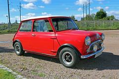 1967 Austin Mini 850 (crusaderstgeorge) Tags: crusaderstgeorge redcars red british 1967austinmini850 1967 austin mini 850 gvle gvleborg sweden sverige jrnvgsmuseet jrnvgsmuseum