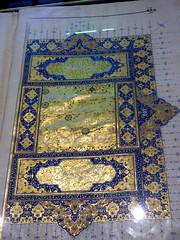 Konya - Mevlana Turbesi, shrine interior, illuminated quran (damiandude) Tags: rumi dervish sufi