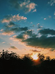 Walk on the sunset (Junckr) Tags: sunset sun vscocam photographie photography photo photog sky snap japan cloud iphone