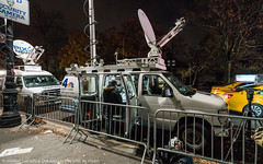 News Vans (DSC05258) (Michael.Lee.Pics.NYC) Tags: newyork thanksgiving parade 2016 balloon infation night news vans centralparkwest sony a7rm2 fe1635mmf4