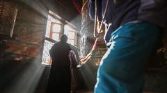 My wish will come true!! (Kantashoothailand) Tags: canon 1dx markii ef2470mmf28liiusm travelphotography moodandatmosphere kathmandu centraldevelopmentregion nepal np availablelight prayerwheels boudhanath people streetphotography