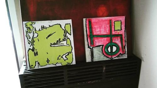 #pintura #artwork #paintings #newworks #arteabstracto #artist #abstractart #workingprogress #art #colors