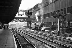 Manchester Victoria Lancashire 8th June 1968 (loose_grip_99) Tags: manchester victoria lancashire england uk train steam engine locomotive station lyr lancashireyorkshire lancsyorks britishrailways lms stanier black5 460 45076 endofsteam transportation banker blackwhite noiretblanc gassteam uksteam trains railways june 1968