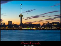 Sunset at the city of Rotterdam (Marcel Runhart) Tags: holland city rotterdam habor sunset euromast runhartfotografie