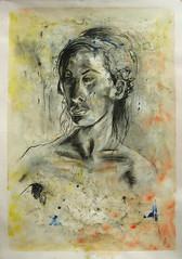 Portrait Bea (Alemwa) Tags: alemwa berlin kreuzberg zeichnung zeichnen sketching skectch akt aktzeichnung nude lifedrawing zeichnennachmodell woman frau portrait