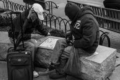 Xiangqi on the Go (votsek) Tags: 2016 chinatown boston xiangqi chinesechess game chess boardgame street nikond750 people park bench