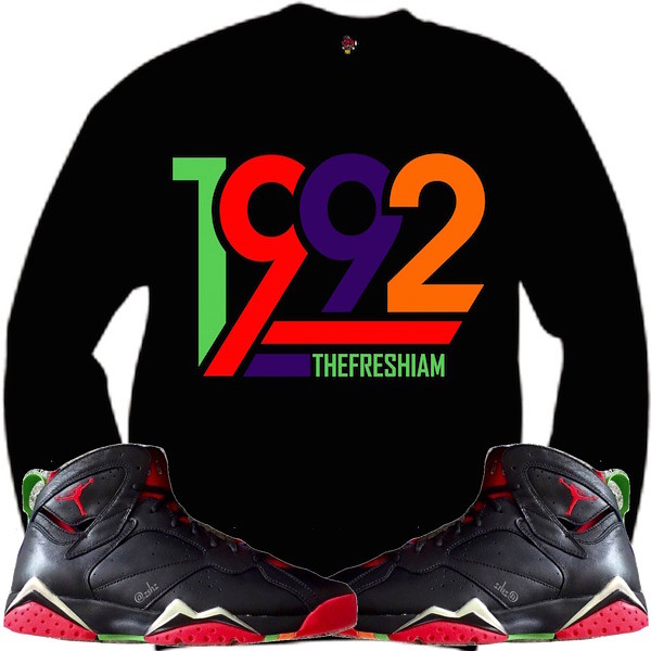 64d9a8a9e420f9 Jordan 7 Martian Crewneck Sweat Shirt (XGEAR101) Tags  shirt outfit  clothing shoes air