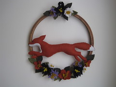 "Fox in Flowers Wreath • <a style=""font-size:0.8em;"" href=""http://www.flickr.com/photos/21040086@N02/20440588504/"" target=""_blank"">View on Flickr</a>"