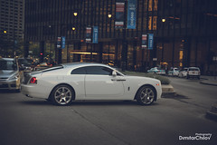 city white chicago cars rollsroyce automotive wraith carphotography