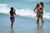 Taking Photos On The Beach (Joe Shlabotnik) Tags: ocean beach maine bikini takingphotos faved 2015 higginsbeach afsdxvrnikkor55300mm4556ged july2015
