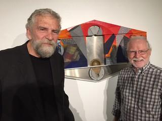 Artists Robert Thiele and Elmer Craig at The Robert Huff opening