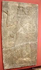 Genie standing in front of a tree of life (Merja Attia) Tags: museum turkey istanbul palace relief ii marble treeoflife slab genie ashurnasirpal nimrud kalhu assumasirpal museumoftheancientorient