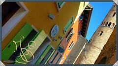 Milk (Scorpion-66) Tags: blue green colors yellow milk calle campanile piazza duomo latte colori caorle unitedcolor samsungnote4