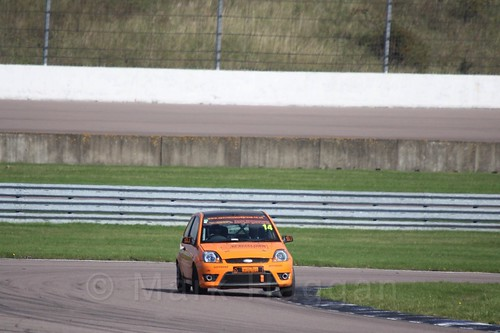 Simon Horrobin in Fiesta Racing at Rockingham, Sept 2015