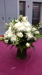 Flower Arrangements, Repast #4 (artistmac) Tags: city flowers roses urban plants chicago illinois wake flowerarrangements il funeral tribute carnations generalassembly staterepresentative repast esthergolar
