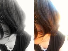 2015-09-24_12-11-15 (weirdokay) Tags: blackandwhite selfportrait diptych fisheye fullframefisheye boyswithlonghair hairselfportrait fisheyeportrait