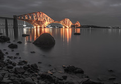 Forth Bridge (Anton Andreev) Tags: bridge white black water misty scotland edinburgh engineering forth firth autofocus dalmeny top20bridges