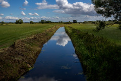 View into another world (James Mc Innes) Tags: reflection water beautiful canon river landscape walk relaxing peaceful somerset amateur 700d