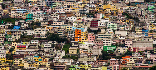 Colourful Quito Buildings