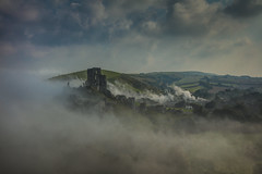 the last train (stocks photography.) Tags: morning mist castle misty fog train canon landscape photography photographer foggy stocks corfe steamtrain corfecastle stocksphotography michaelmarsh canon5dsr