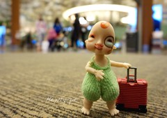 Going on a short biz trip..... (Kewty-pie) Tags: travel toys doll mini luggage artdoll humpty suitcase arttoy dollphotography toyphotography neferkane