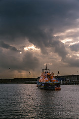 11/10/15 (Sasquatchpics) Tags: sunset water boat lifeboat portrush nireland rnli colondonderry canon6d 365in2015