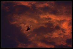 Like a Bat out of Hell (Neil Tackaberry) Tags: county ireland sunset sky coastguard irish rescue evening flying chopper sundown dusk neil kerry helicopter co fiery countykerry cokerry batoutofhell neilt tackaberry neiltackaberry