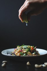 Crunchy Quinoa Salad with Thai Peanut Sauce (Lan   MoreStomachBlog) Tags: lunch salad vegan vegetable vegetarian quinoa organic cashew csa glutenfree grainfree