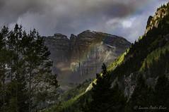 Maroon Bells Peaks Rainbow (Laurie-B) Tags: autumn usa mountain west fall america landscape us colorado unitedstatesofamerica north central september american northamerica mountainside aspen maroonbells northamerican 2015 dpca